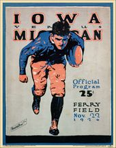 College Football - Michigan vs Iowa - 1924 Poster