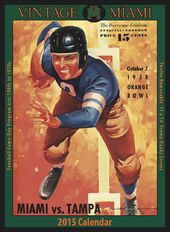 Miami Hurricanes - Vintage 2015 Football Calendar