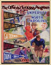 College Football - North Carolina - 1930 Poster