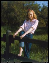 Barefoot Country Girl Vintage Norma Jeane Poster