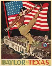 College Football - Texas vs Baylor - 1934 Poster