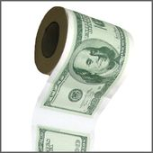 Funny Toilet Paper - Money - $100 Bills