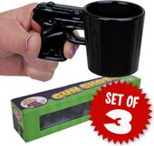 Gun Shots - 3-Piece Pistol Shaped Shot Glass Set