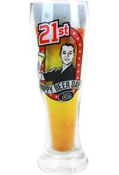 Birthday - 21st Birthday 12 oz. Beer Glass