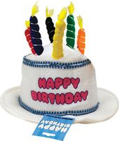 Birthday - Happy Birthday Candle Hat - White