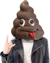 Doo Doo Head Mask - Funny Poop With Face Mask