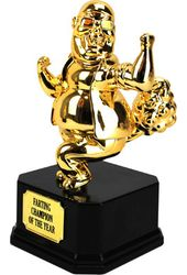 The Farting Champion of The World Trophy