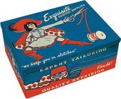 Tin Cigar Box - Sewing Supplies