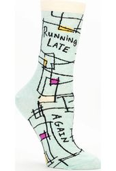 Running Late, Again. Women's Crew Socks