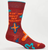 Ask Me About My Feelings Socks Men's