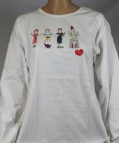 I Love Lucy - Stick Figures - Long Sleeve T-Shirt