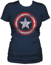 Captain America - Shield - Womens T-Shirt (Size: