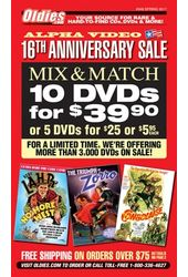 Alpha Video DVD Sale (Spring 2017) [Catalog #948]