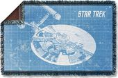 Star Trek - Enterprise Blueprint Woven Throw