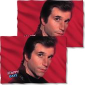 Happy Days - Fonz Red (Front & Back) - Pillow Case