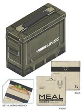 Halo - Ammo Crate Tin Lunch Box with Reusable