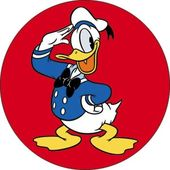 Disney - Donald Duck - Salute Red Round