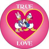 Disney - Donald Duck & Daisy - True Love - Button