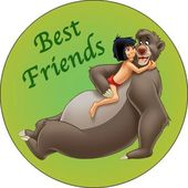 Disney - Jungle Book - Best Friends - Button
