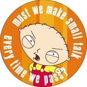 Family Guy - Stewie - Small Talk - Button