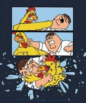Family Guy - Peter Chicken Fight - Sticker