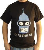 Futurama - Ctl Alt Shift Kill - T-Shirt