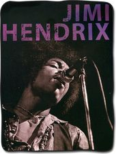 Jimi Hendrix - Black And White Portrait Fleece
