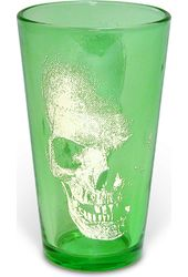 Skull - 16 oz. Green Pint Glass