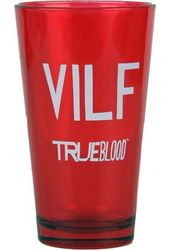VILF V Red 16 oz. Pint Glass