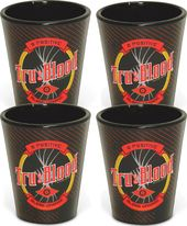 True Blood - Black Splatter Shot Glass:Set of 4