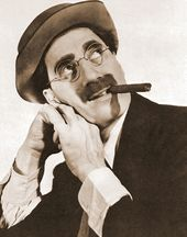 "Groucho Marx - Head On Hands - 11"" x 14"" Print"