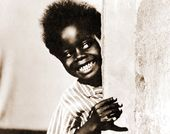 "The Little Rascals - Buckwheat Peeking - 11"" x"