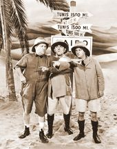 "The Three Stooges - Explorers - 11"" x 14"" Print"
