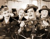 "I Love Lucy - Group In Car - 11"" x 14"" Print"