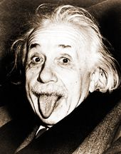 "Albert Einstein - Tongue - 11"" x 14"" Print"