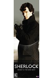"Sherlock - Brainy Is The New Sexy - 11.75"" x 36"""