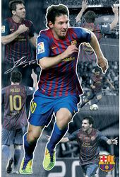 "Barcelona - Messi Collage 11/12 - 24"" x 36"" Poster"