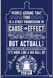 "Doctor Who - Wibbly Wobbly Quote - 24"" x 36"""