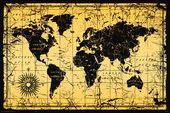 "World Map - Old Style - 24"" x 36"" Poster"