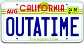 Back To The Future - Out A Time License Plate