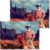 John Wayne - Monument Man (Front & Back) - Pillow