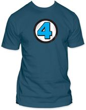 Fantastic Four - 4 Logo - Fitted Jersey (Size: