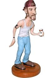 Joe Cracker Resin Statue