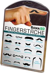 Mustache - Fingerstache - Temporary Tattoos