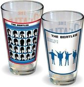 The Beatles - Hard Days Night & Help Pint Glass