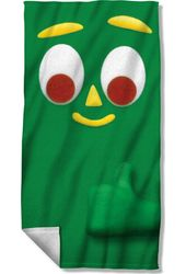 Gumby - Big Face - Beach Towel