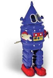 Retro Toy - Robot - Clockwork Tin Robot Blue