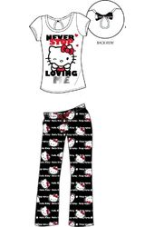 Hello Kitty - Black & White Back Bow - Pajama Set