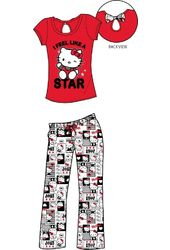 Hello Kitty - Red & Black Back Bow - Pajama Set