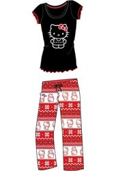 Hello Kitty - Black & Red Fairisle - Pajama Set